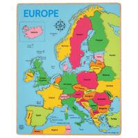 Bigjigs Toys di legno Geografia Europa incasso Jigsaw Puzzle Educational
