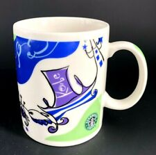 Starbucks Coffee 2009 Japan KOBE City Design OLD LOGO Art Mug Cup 400ml