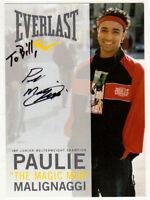 Paulie Malignaggi HAND SIGNED 5x7 Photograph! Bare Knuckle Boxer! IBF!