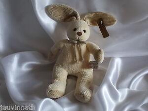 Doudou lapin beige en tricot , Anna Club Plush