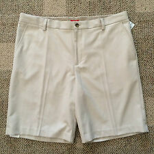 IZOD Mens Size 30  Beige Tan Mainfloor Polyester Shorts No Iron Dress Casual