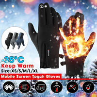 Winter MTB Bike Bicycle Cycling Thermal Warm Full Finger Gloves Touch   */!