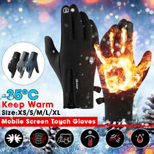 Winter MTB Bike Bicycle Cycling Thermal Warm Full Finger Gloves Touch