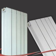 """405mm(w) x 1800mm(h) """"Vesuvius"""" Vertical White Aluminium Radiator - 5876 BTUs"""