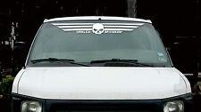 Harley Davidson White Willie G Auto Windshield  Window DECAL