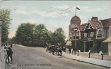 English Postcard. High Street, Sydenham, Southwark. Pub and Sign!  Mailed 1916
