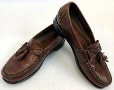 Mens Brown Leather Johnston J Murphy Kiltie Tassel Loafers Dress Shoes Size 8 D