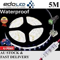 Waterproof 12V Cool White 5M 3528 SMD 300 LED Strips Led Strip Lights Car Boat