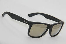 AUTHENTIC RAY-BAN RB 4165 JUSTIN 622/5A BLACK MIRRORED SUNGLASSES 54-16