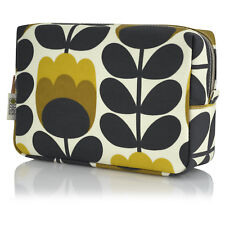Orla Kelly Etc Make Up Bag Measures 8 X 5 Two Zip Compartments Minor Wear To Bottom Of Nylon Faux Patent Leather Trim In Excellent