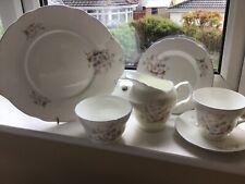 More details for vintage afternoon tea set crown trent wild flower pattern 21 piece