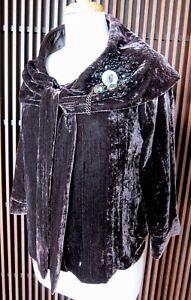 ROSE GARDEN AT THE WALK Women's Jacket/Coat, Brown Velvet, M