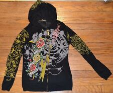 Ed Hardy Christian Audigier Hoodie Sweater Full Zip Hoodie Size Medium