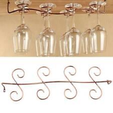 Beautiful Design 8 Glass Holder Hanging Wine Glass Rack Kitchen or Bar UK Sold