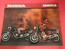 1980 Honda CM400 T / A  - Motorcycle Sales Brochure - Literature