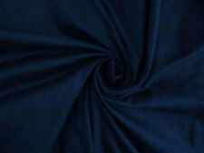 "Navy Blue 100% dupioni silk fabric yardage By the Yard 45"" wide Quilt Sew Drapes"