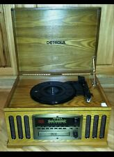Detrola Record Player, Turntable, CD Player, Cassette Deck, AM/FM Radio All In 1