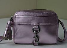 Rebecca Minkoff Metallic Pink Leather Camera Messenger Crossbody Bag