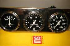 "2 5/8"" STEWART WARNER NOS SUPER CAR GAUGE SET BLACK FACE"