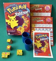 Pokemon Yahtzee Jr. MB Board Game Hasbro 100% COMPLETE + Extras/Spares