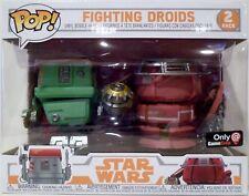 "FIGHTING DROIDS Star Wars Pop 4"" Vinyl Bobble Head Figure 2-pack Game Stop 2018"