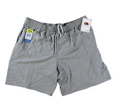 Fruit of the Loom Men Jersey Pocket Shorts Steel Grey Heather Small (S)