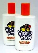 """Most """"Wicked Rays"""" Hot Action Tanning Lotion - Lot Of 2- 8Z Bottles -New- $48.Rv"""
