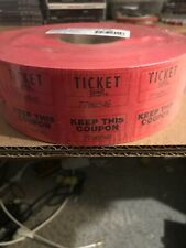 50-50 Red Raffle Tickets 1 New 2000 Ticket Roll 1 Orange Partial Roll 3/4 Full