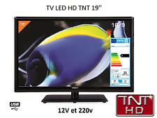 Antarion Télévision TV + DVD LED 19' HD LED 12V/24V /220V camping car