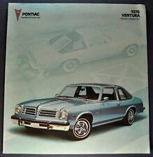 1976 Pontiac Ventura Sales Brochure Folder Hatchback SJ Excellent Original 76