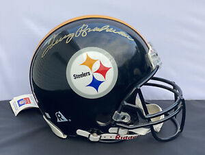 Terry Bradshaw SIGNED Full Size Pro Line Football Helmet Pittsburgh Steelers