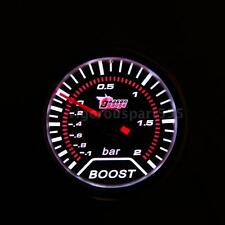 "2"" 52mm Vehicle Car Bar Boost Gauge Volt Meter Universal Smoke Lens LED O2X3"