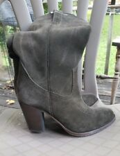Auth FRYE Ilana Suede Leather Western  Boots sz 8 retail $368!