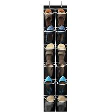 Over the Door Shoe Organizer - 12 Mesh Pockets, Space Saving Hanging Shoe Holder