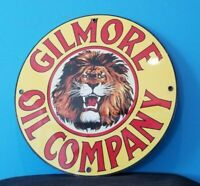 VINTAGE GILMORE PORCELAIN GAS AUTO MOTOR OIL SERVICE STATION PUMP PLATE SIGN