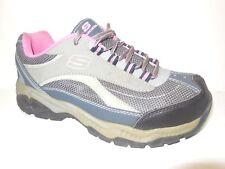 Skechers for Work Womens Doyline Steel Toe Boot, Gray Pink, 8 M US 76574 (dc)