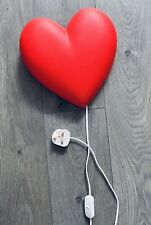 Ikea Red Heart Wall Light. Fully Funtional