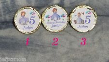 @**100 CUSTOM MADE DISNEY'S SOFIA THE FIRST BIRTHDAY KISS CANDY FAVOR LABELS**@