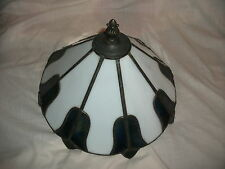LEADED LAMP SHADE CHAIN HANGING LIGHT