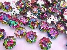 20 Multi-Color Jewel Rhinestone 12mm Sewing Button/2 hole/sewing/trim Sb7-Flower