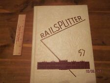 1957 Des Moines Lincoln High Railsplitter IA Yearbook