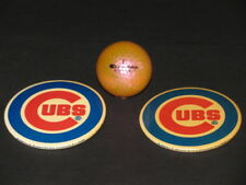 "Vintage 1970 1980 CUBS 3"" Diameter Pin Back NL Souvenir baseball Ball"