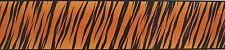 """TIGER PRINT WALL BORDER ANIMAL SKIN, JUNGLE, DESIGN TG175B 6"""" W X 144"""" L"""