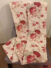 New Waverley Garden Room Rose Tab Top Set of 2 Curtains 42 X 82 Per Panel