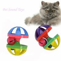 Pet Cat Funny Interactive Toys Bell Ball Sound For Pet Cat Color Toys Random h
