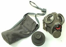 (2) WW2 SWEDEN SWEDISH ARMY m36 GAS MASK & BAG + 1942 DATED FILTER