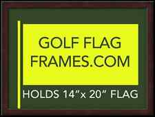 16x20 Mahogany Golf Flag Frame Moulding Brn-002 Green Mat (holds 13x17 Masters