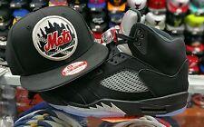 Matching New Era New York Mets 9Fifty snapback for Jordan 5 OG Black Metallic