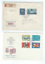 Switzerland Suisse early Maiden Voyage cover to Chicago and 3 FDCs