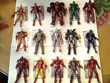 Huge Lot of Iron Man 2 Movie 3 3/4 Inch Scale Figures, with Rare HulkBuster